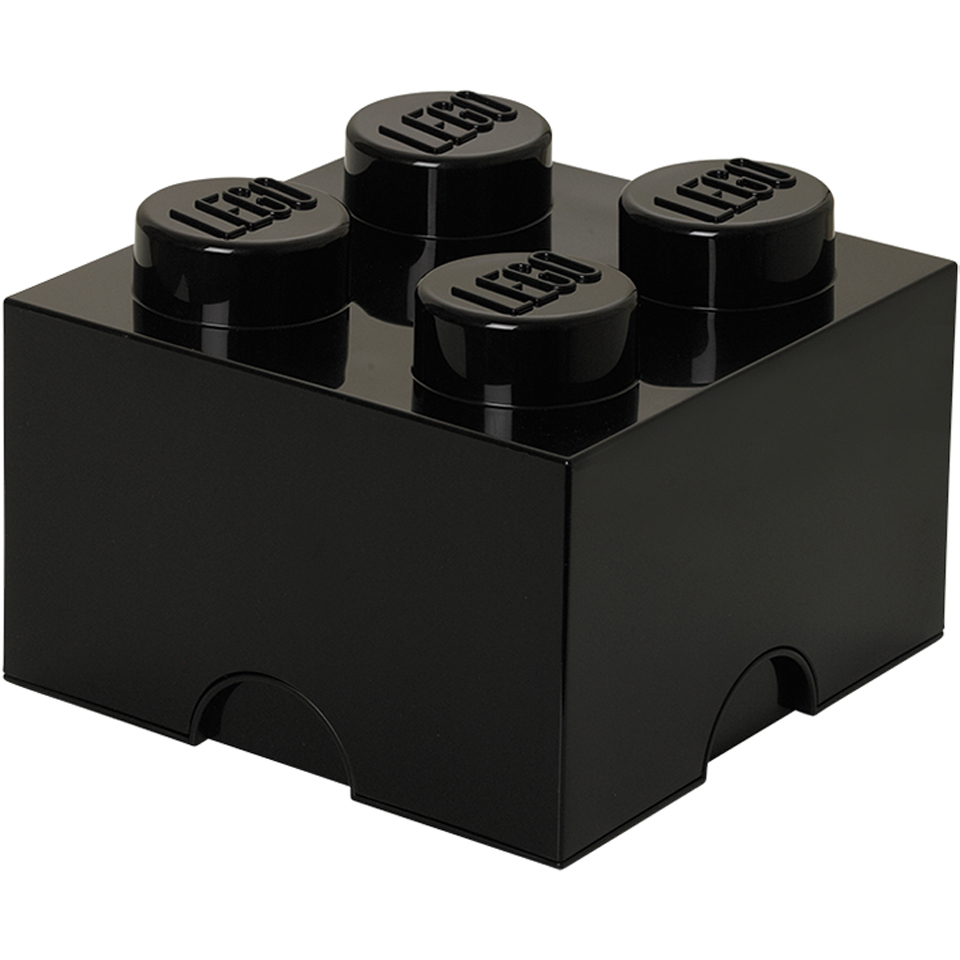 LEGO Storage Brick 4 - Black