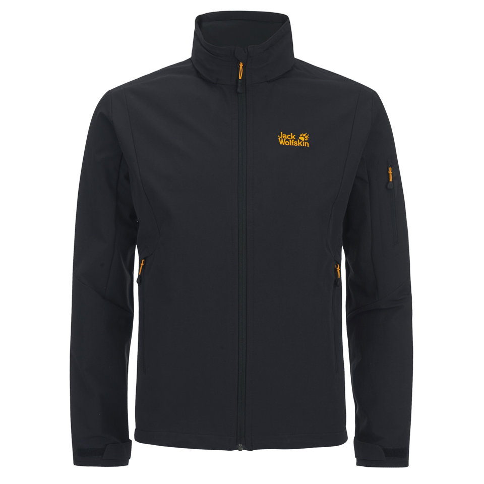piccolo benvenuto Unmanned  Jack Wolfskin Men's Muddy Pass Softshell Jacket - Black Kleidung | TheHut.de