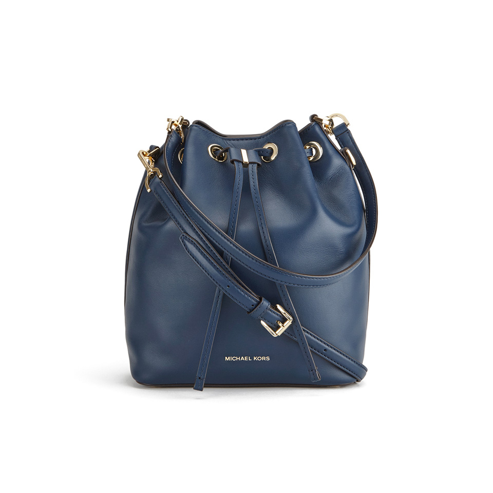Michael Michael Kors Women S Dottie Large Bucket Bag Navy