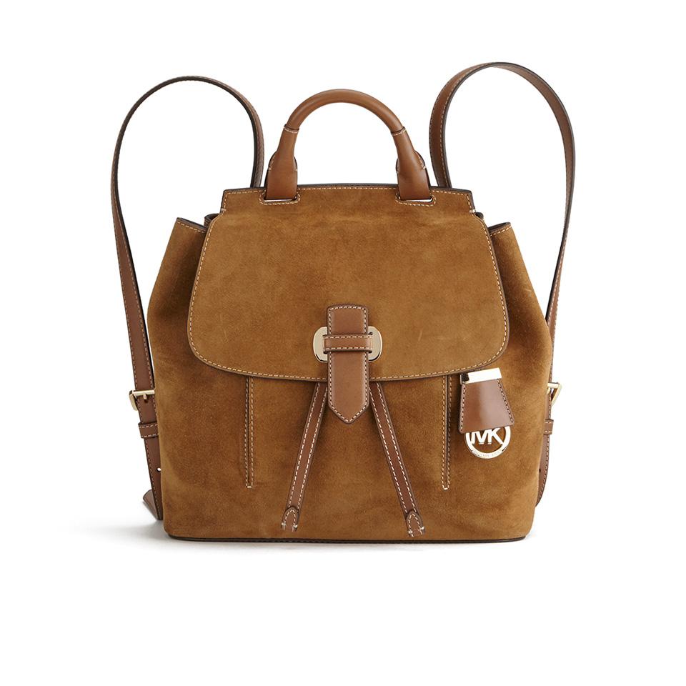 58ea0f697e75 ... MICHAEL MICHAEL KORS Women's Romy Suede Backpack - Dark Caramel