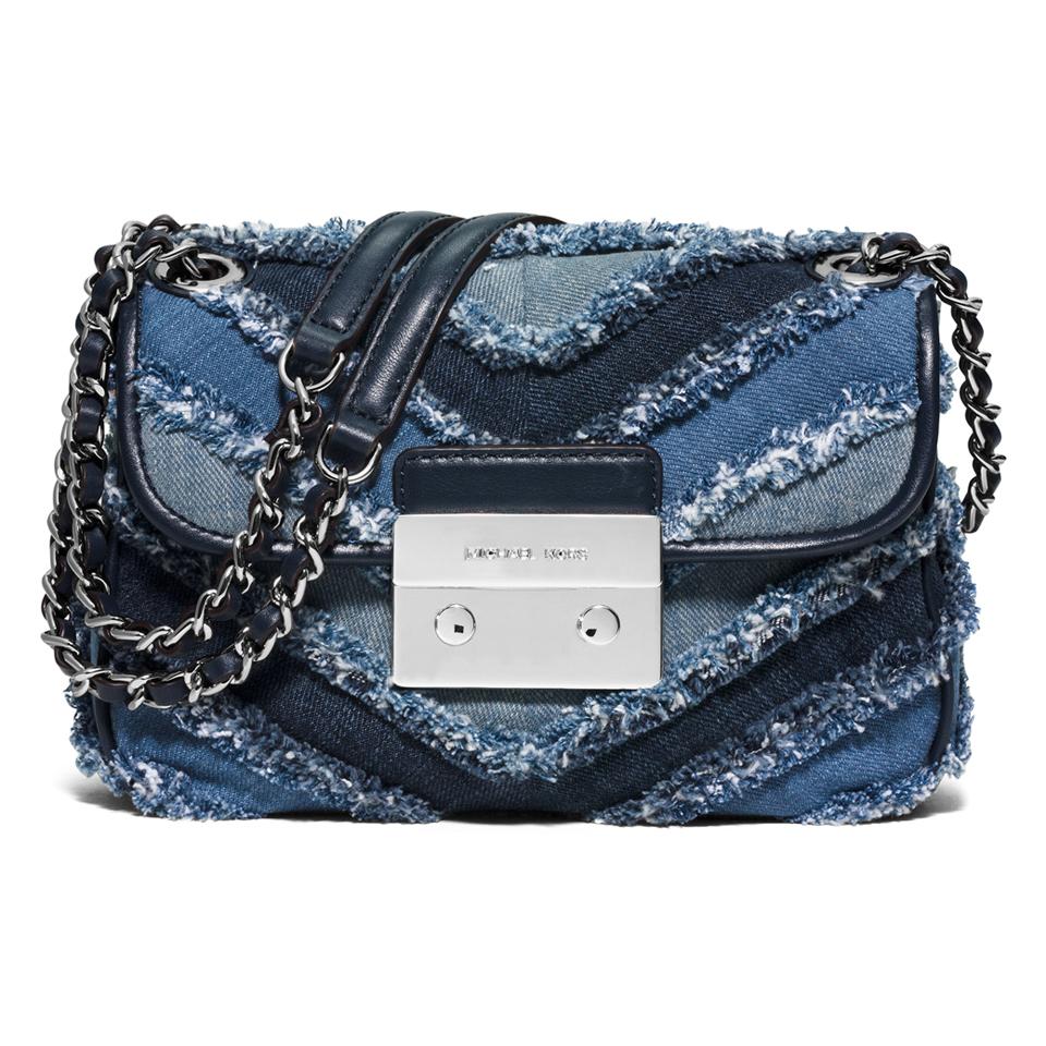 5d32be0396d8 ... MICHAEL MICHAEL KORS Women s Sloan Small Denim Crossbody Bag - Multi  Blue