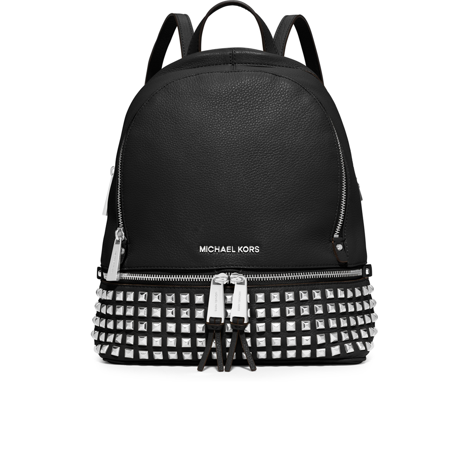 d09d5aa2fe28 MICHAEL MICHAEL KORS Women s Rhea Studded Zip Backpack - Black ...