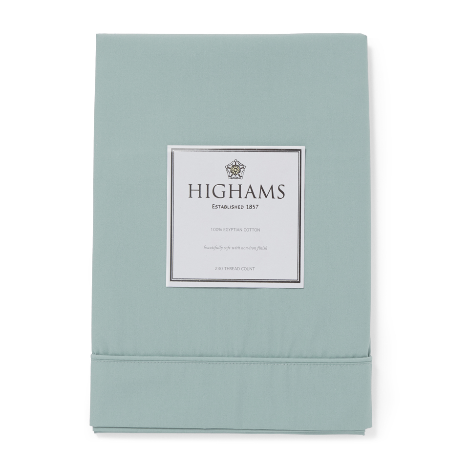 Highams 100% Egyptian Cotton Pillowcase - Duck Egg