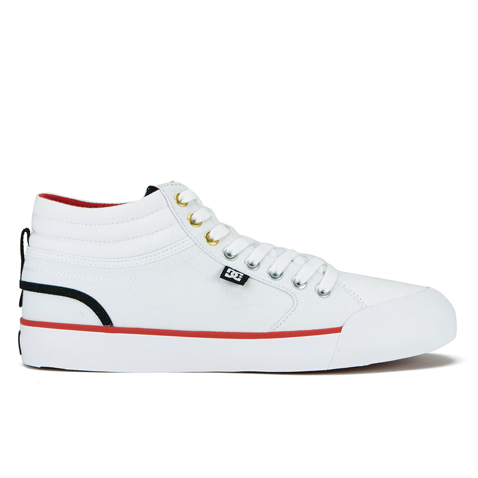 d1c9af8e034 DC Shoes Men s Evan Smith High Top Trainers - White Mens Footwear ...
