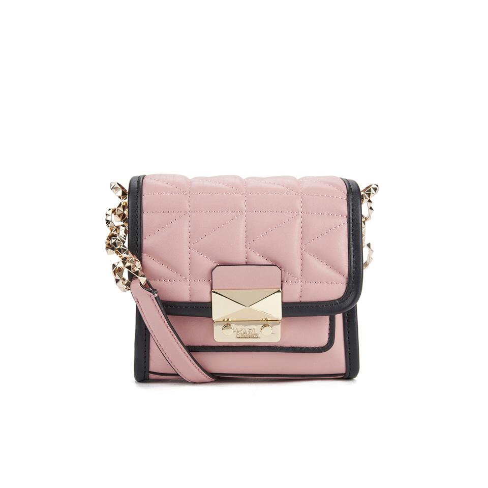 6dcd529d9ebe Karl Lagerfeld Women s K Kuilted Crossbody Bag - Misty Rose - Free ...