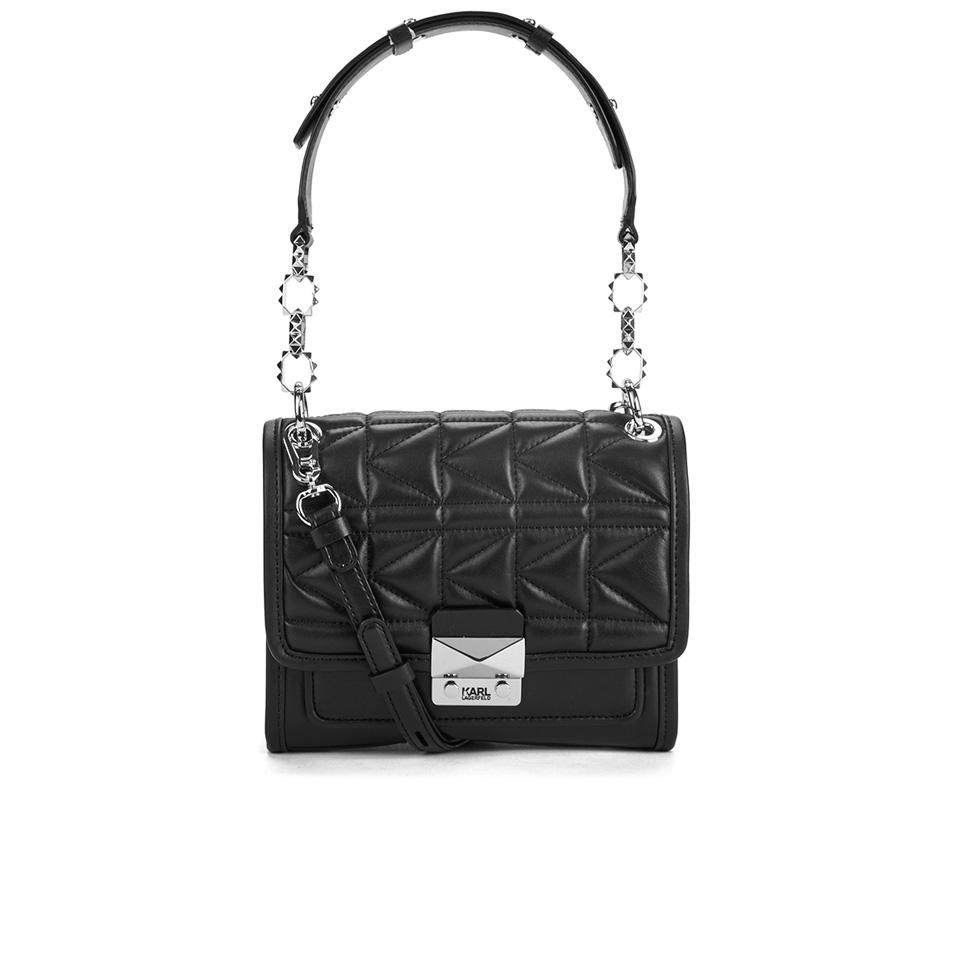 d72824e3bcd3 Karl Lagerfeld Women s K Kuilted Mini Handbag - Black - Free UK ...