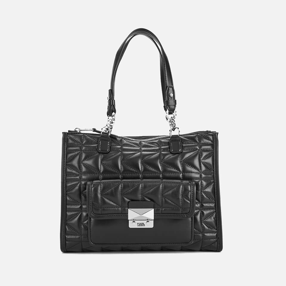 ce1626585bbf4 Karl Lagerfeld Women s K Kuilted Tote Bag - Black