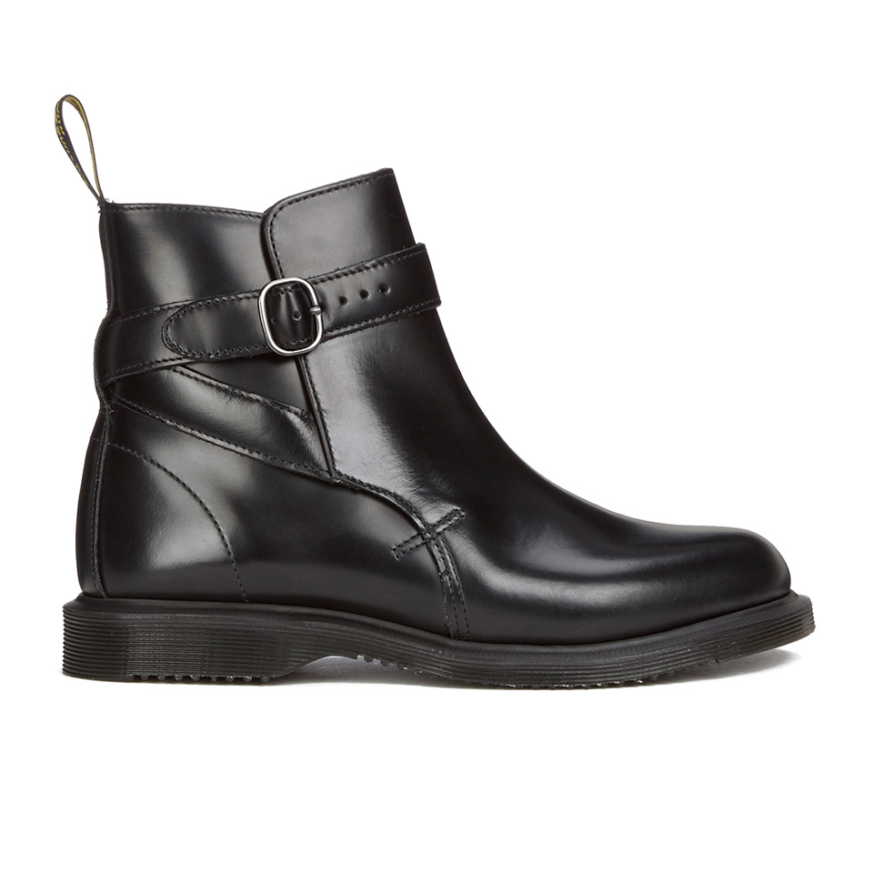 pretty nice c616d 3feb9 Dr. Martens Women's Teresa Jodphur Ankle Boots - Black Polished Smooth