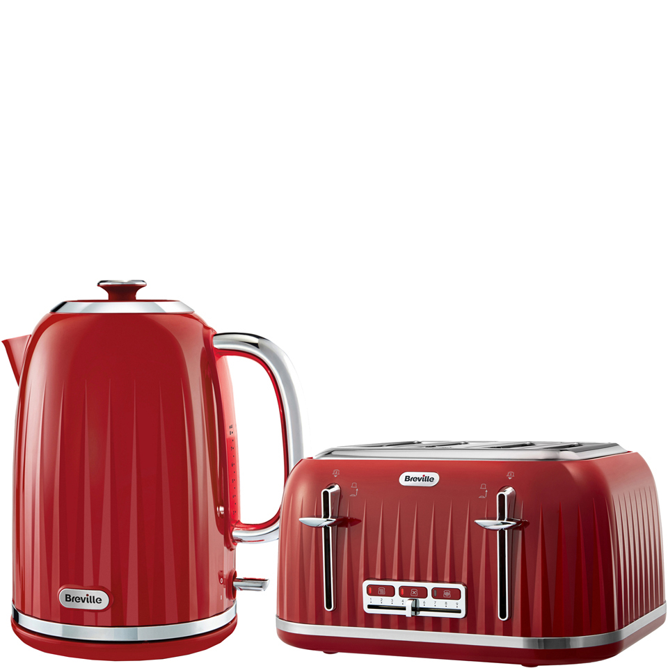 Breville Impressions Collection Kettle and Toaster Bundle - Red