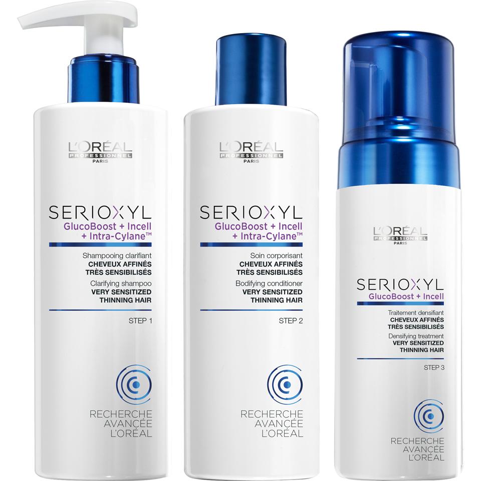 647b6b79b L'Oreal Professionnel Serioxyl Kit 3 for Sensitised Hair 625ml ...