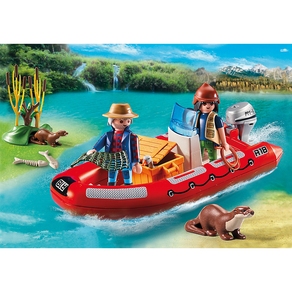 Playmobil Wild Life Inflatable Boat with Explorers (5559)