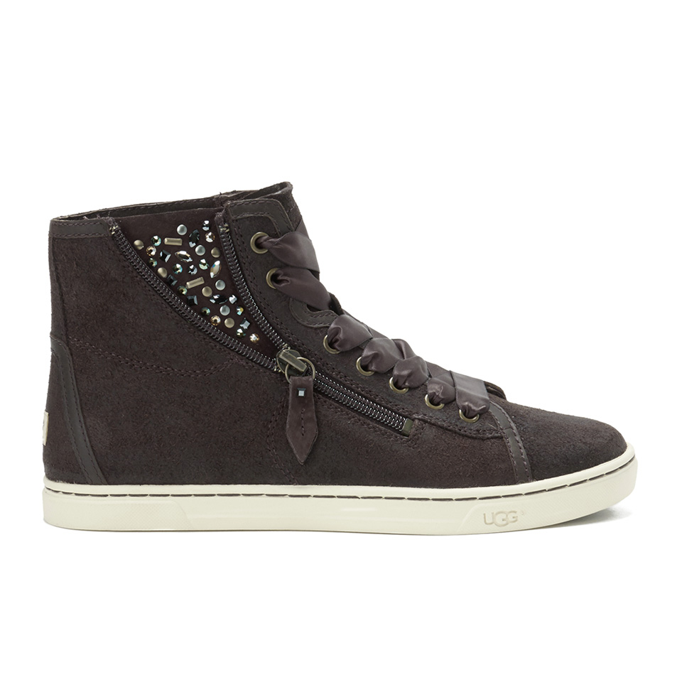 349fd09ec3e UGG Women's Blaney Crystals Hi-Top Trainers - Chocolate