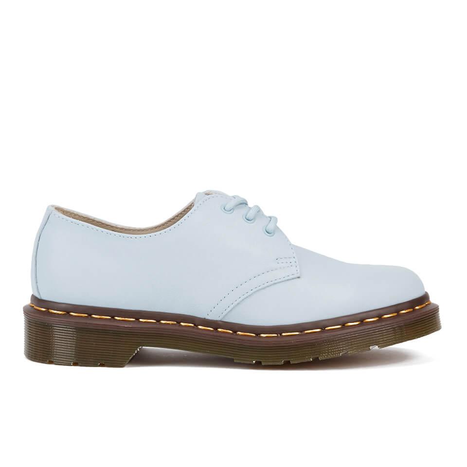 996115e8ebf8ba ... Dr. Martens Women s Core 1461 Virginia Leather 3-Eye Flat Shoes - Blue  Moon