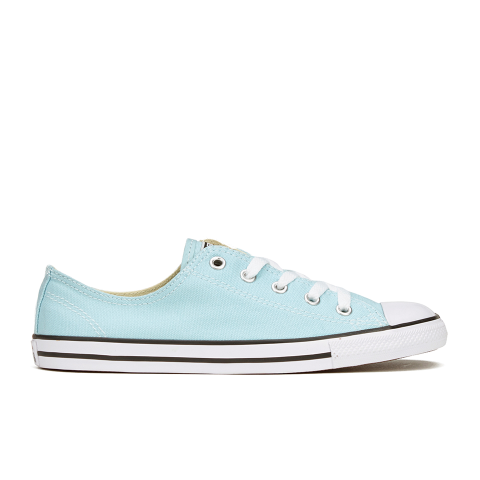 732f0e81cf2 Converse Women s Chuck Taylor All Star Dainty Ox Trainers - Motel  Pool Black White - Free UK Delivery over £50