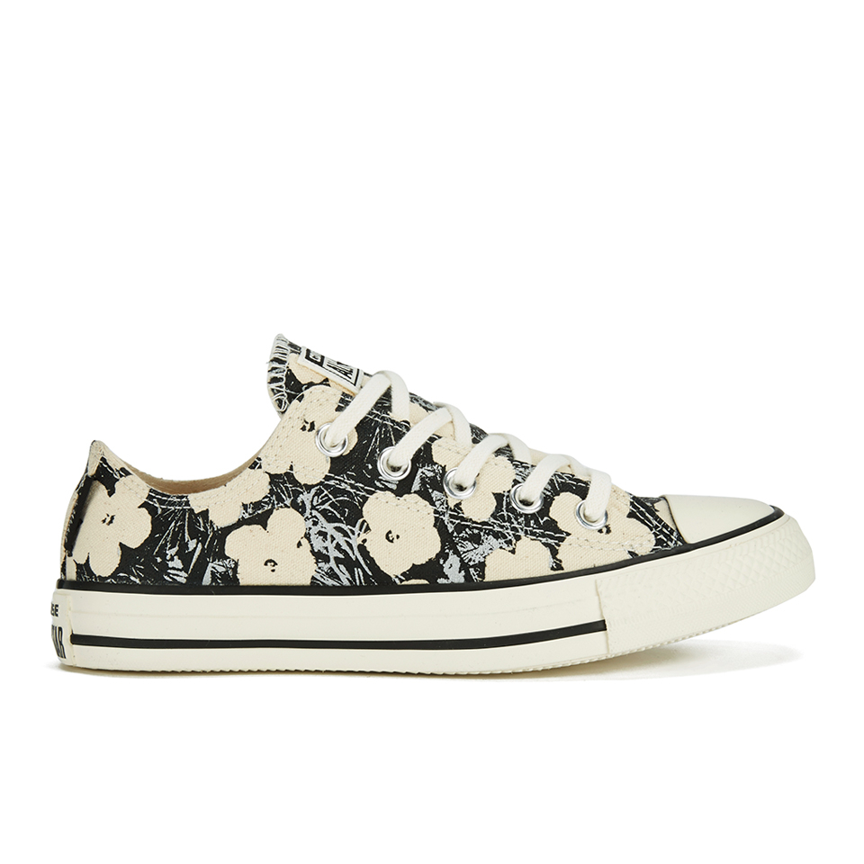 ab9bd751f6c8 Converse Andy Warhol Chuck Taylor All Star Ox Trainers - Natural Black -  Free UK Delivery over £50