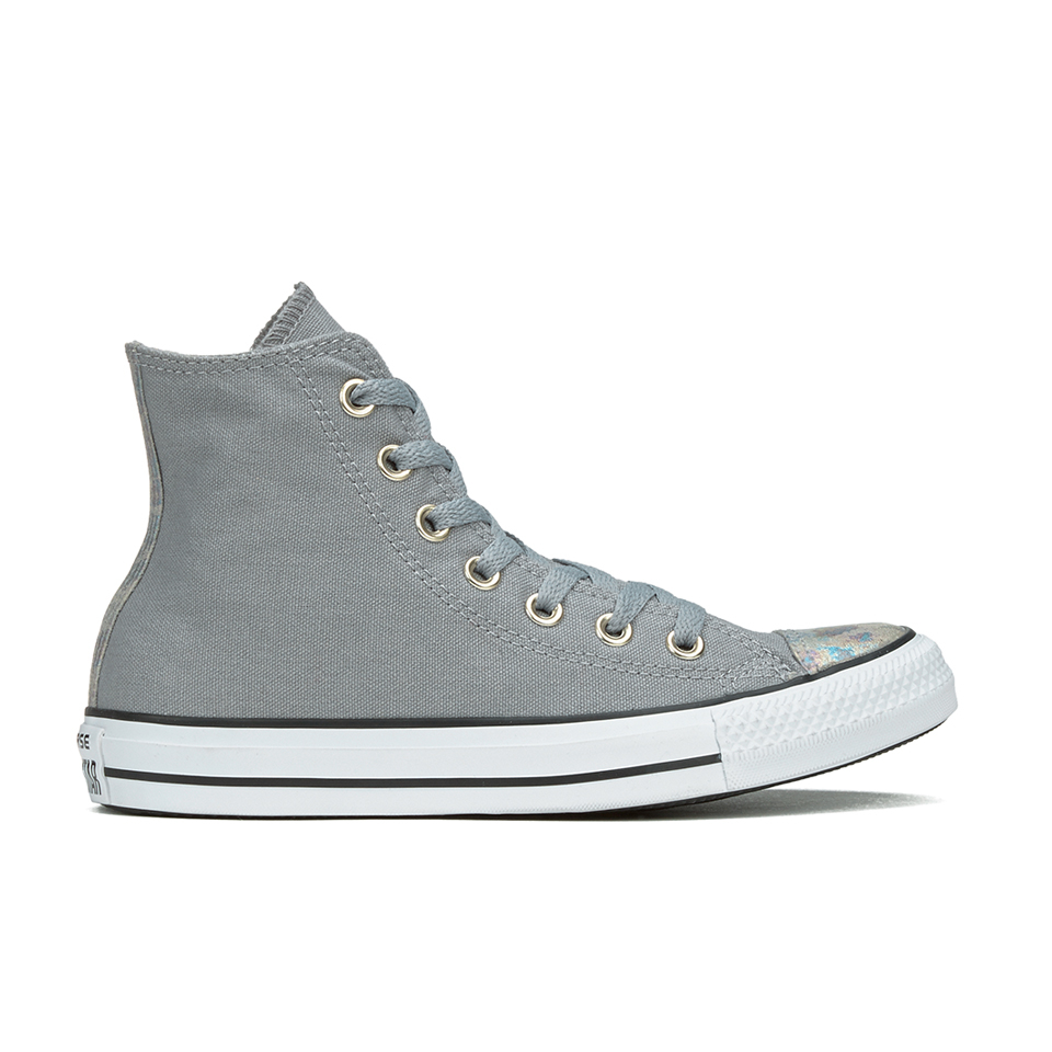 9a65bfd71c88 ... Converse Women s Chuck Taylor All Star Oil Slick Toe Cap Hi-Top Trainers  - Dolphin