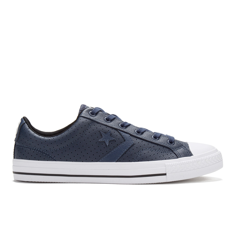 8d638b6981b0cd ... Converse Men s CONS Star Player Perforated Leather Trainers - Navy White