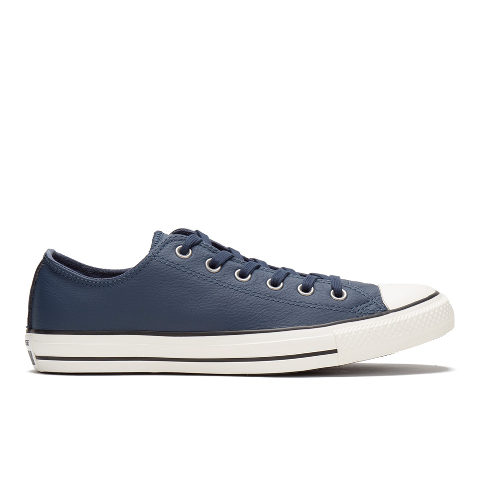Converse Men's Chuck Taylor All Star Motorcycle Leather Ox Trainers NavyBlackEgret