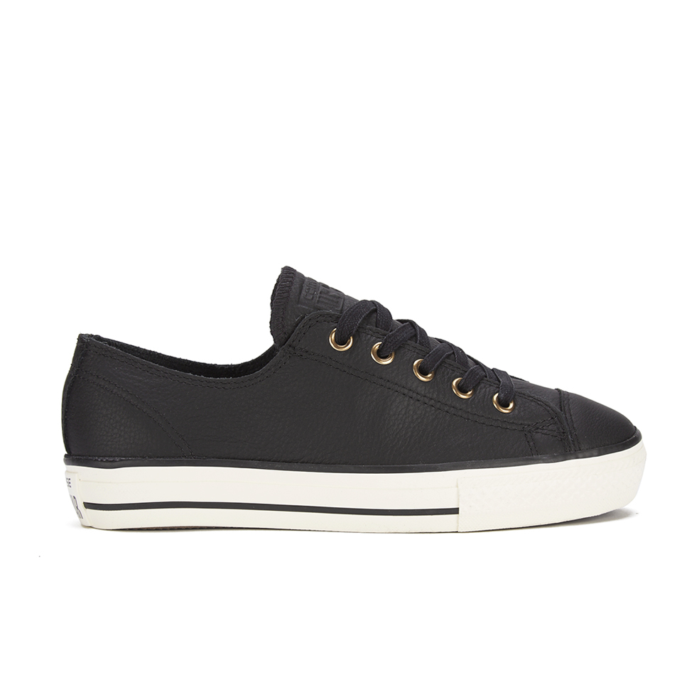 2a25697d147f Converse Women s Chuck Taylor All Star High Line Craft Leather Flatform Ox  Trainers - Black White