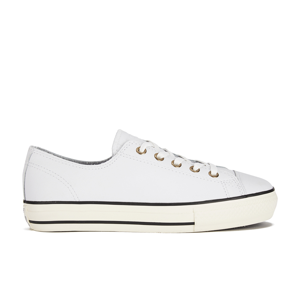 1370286e0e42ad ... Converse Women s Chuck Taylor All Star High Line Craft Leather Flatform Ox  Trainers - White