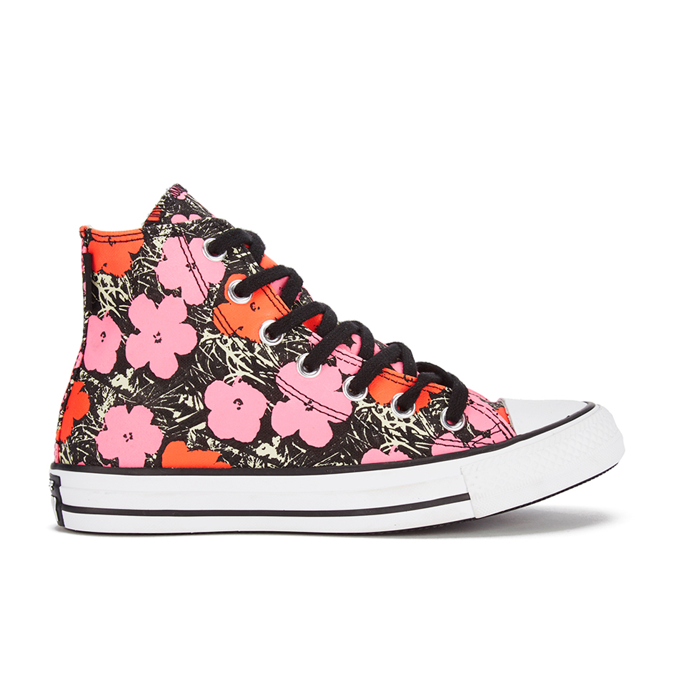 2b6f07eb3937 ... Converse Andy Warhol Chuck Taylor All Star Hi-Top Trainers - Poppy  Red Fuchsia