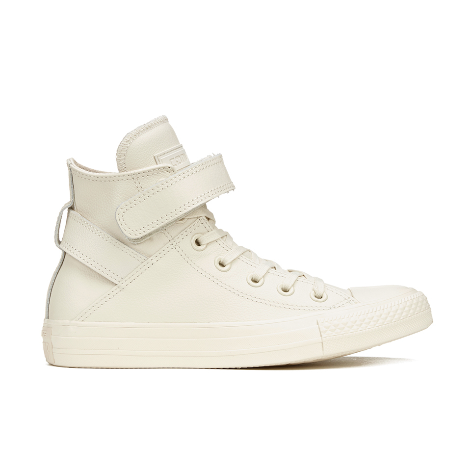 f15069c5e05f Converse Women s Chuck Taylor All Star Brea Leather Hi-Top Trainers -  Parchment White Womens Footwear