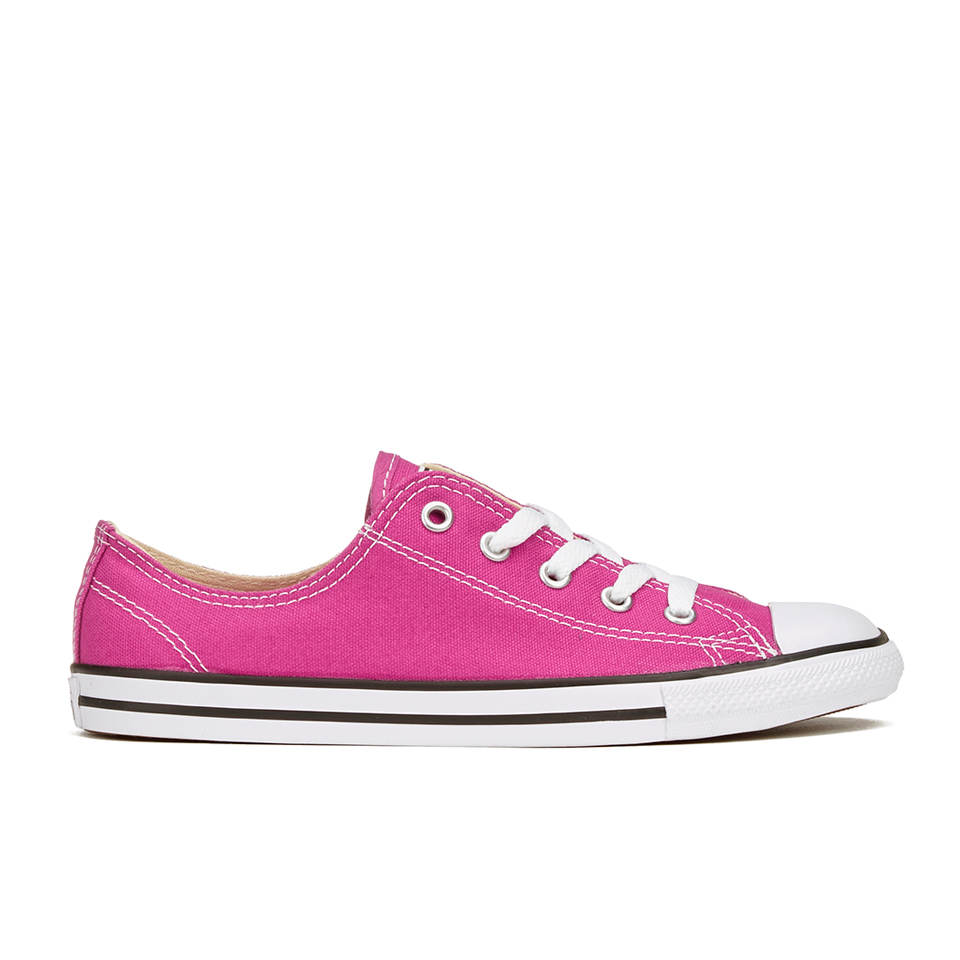 07f734b984150 ... Converse Women s Chuck Taylor All Star Dainty Ox Trainers - Plastic Pink  Black White