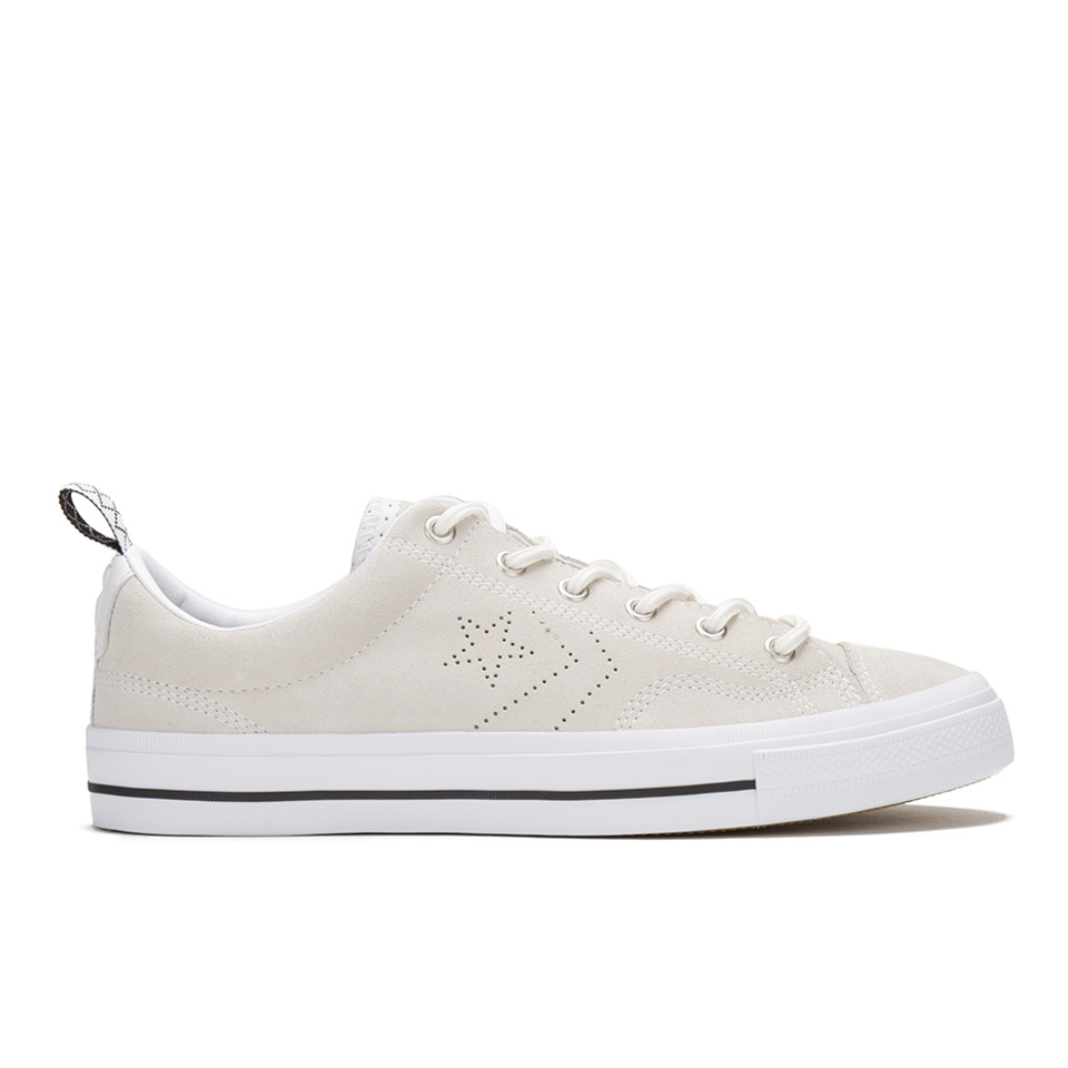 a69d4188f015 Converse Men s CONS Star Player Premium Suede Trainers - Egret White - Free  UK Delivery over £50