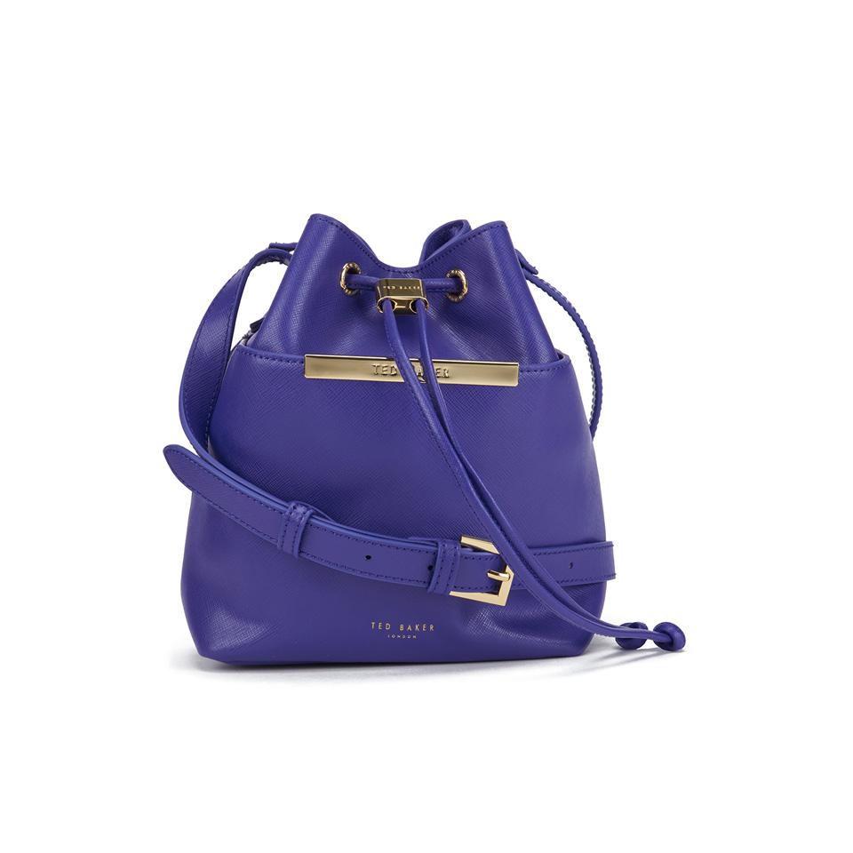 98ef9559f Ted Baker Women s Ersilda Metal Bar Mini Bucket Crossbody Bag - Bright Blue