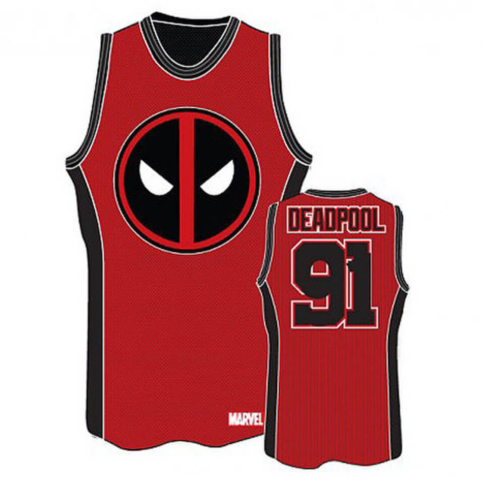 2c1ea3fea37 Marvel Deadpool Basketball Jersey T-Shirt