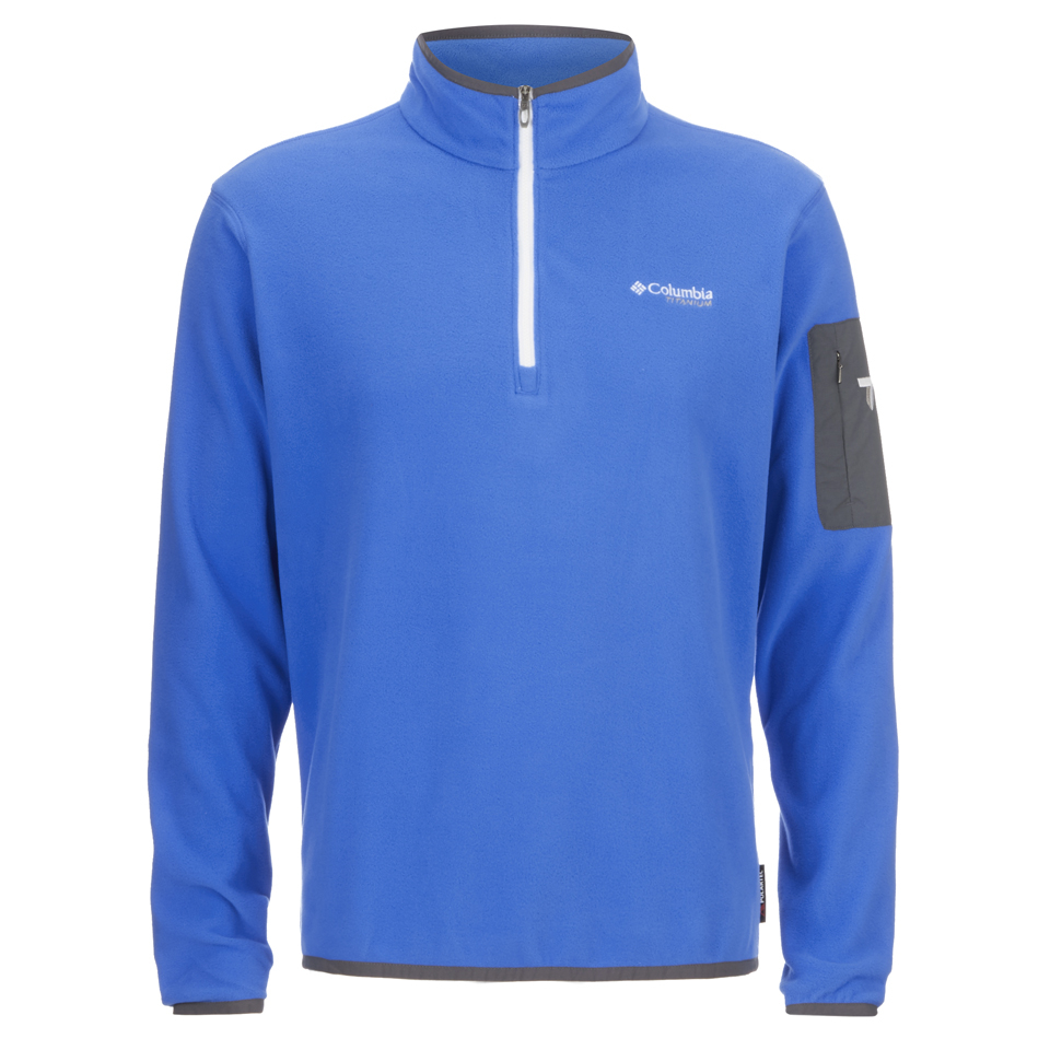 Men's Clothing Shop For Cheap Mens Xxl Columbia Titanium Long Sleeve Half Zip Pullover Jacket Blue Polyester