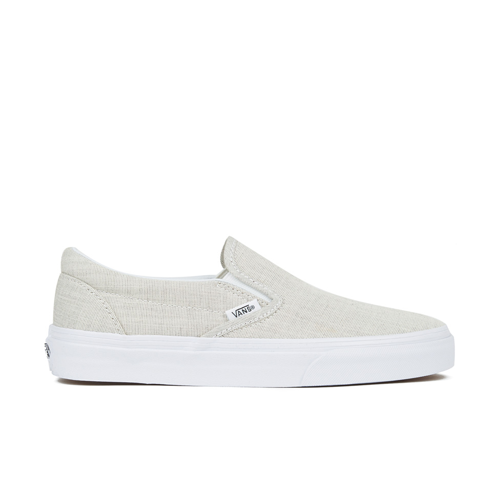 1dcf5512a6 Vans Women's Classic Slip-on Chambray Trainers - Grey/True White