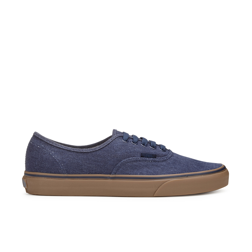 d14d843b02 Vans Men s Authentic Washed Canvas Trainers - Dress Blues Gum - Free ...