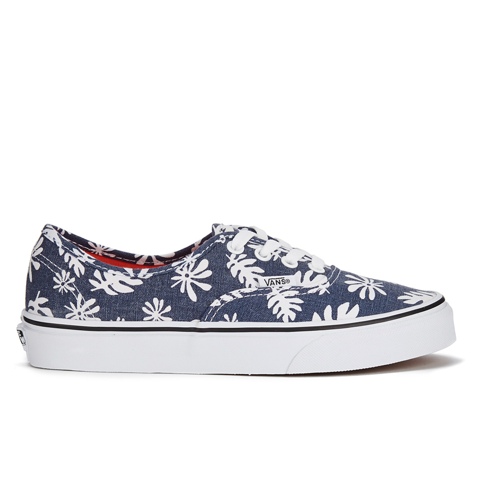 7aa1c77c79 Vans Unisex Authentic Washed Kelp Trainers - Navy/White