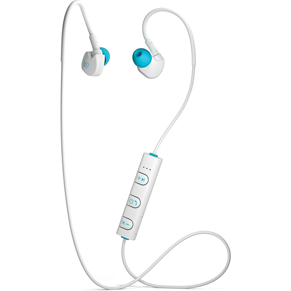 4627ea54d79 Mixx Memory Fit 1 Bluetooth Sports Earphones Including Mic and In-Line  Remote - White Electronics | Zavvi