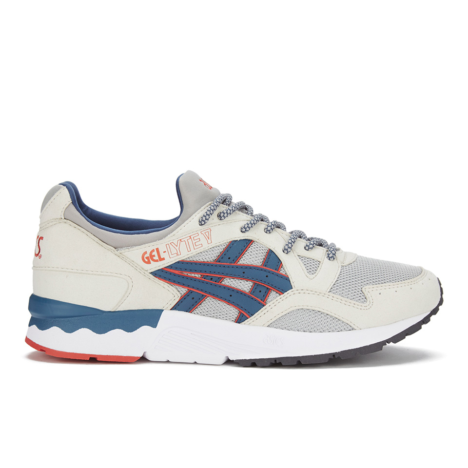 the best attitude 7571f ca157 ... Asics Lifestyle Men s Gel-Lyte V Summer Blues Trainers - Light  Grey Legion Blue