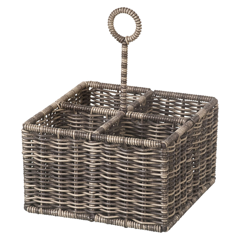 Parlane Purton Wicker 4 Section Bottle Holder - Brown