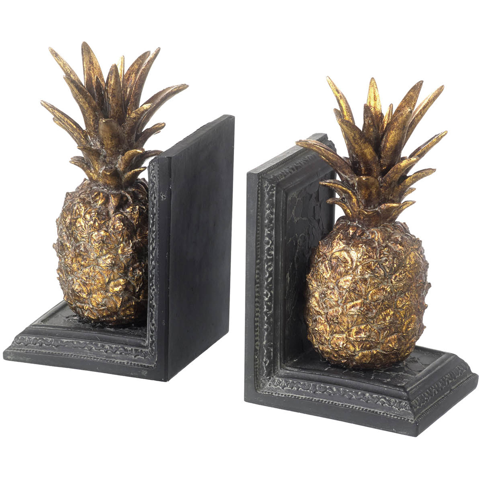 Parlane Pineapple Bookends - Metallic