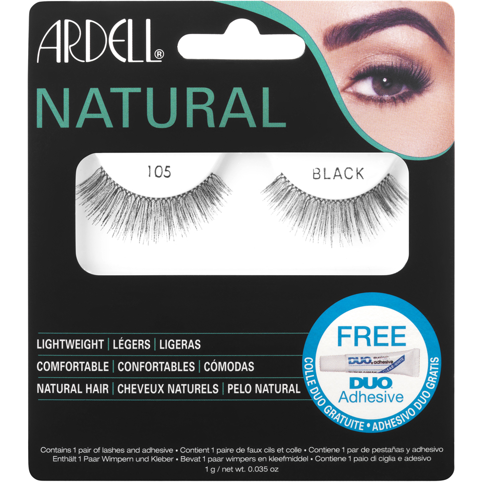 8fe120708fa Ardell Natural Lashes 105 Black | Free Shipping | Lookfantastic