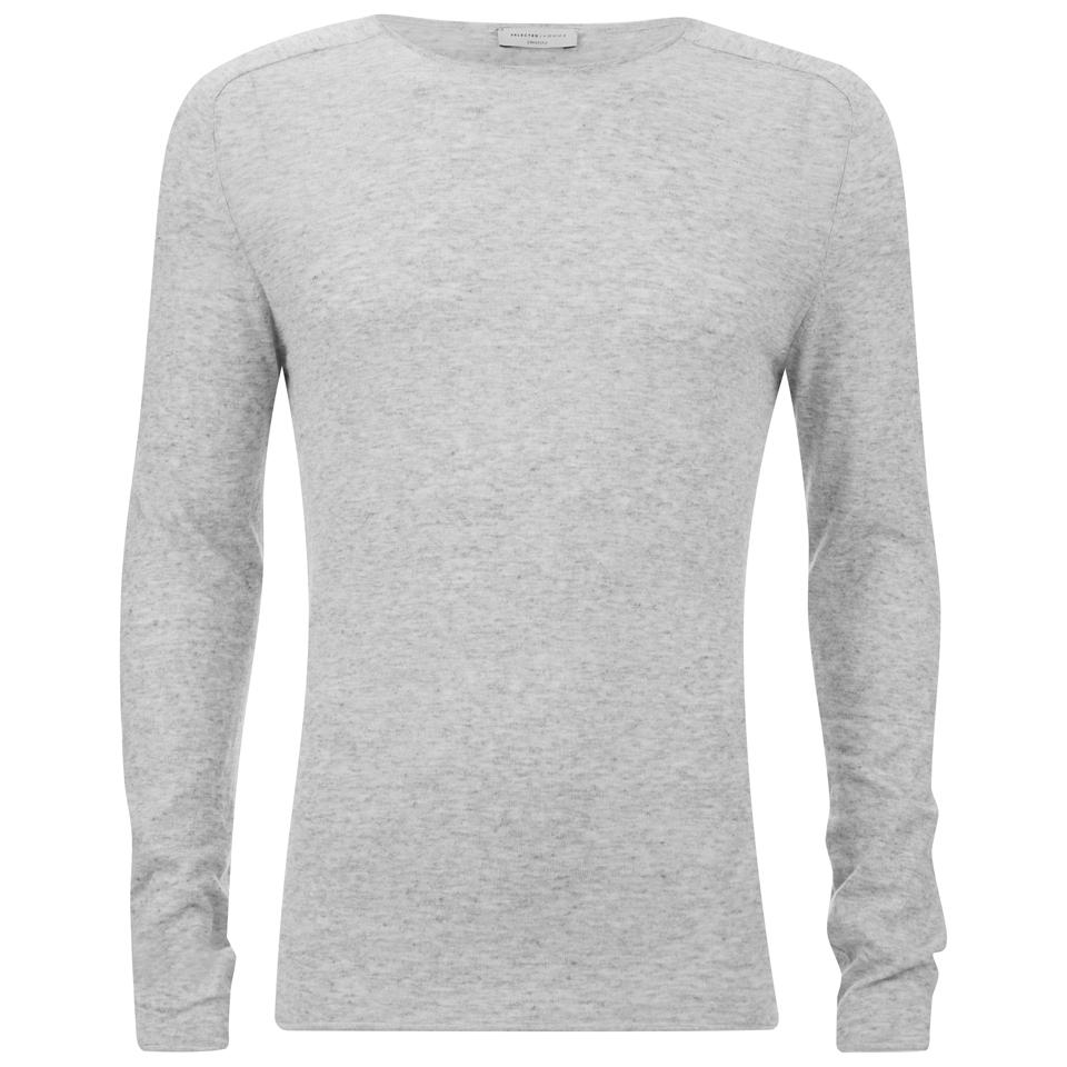 a1c9f9ba79 Selected Homme Men's Denton Crew Neck Sweatshirt - Light Grey Melange