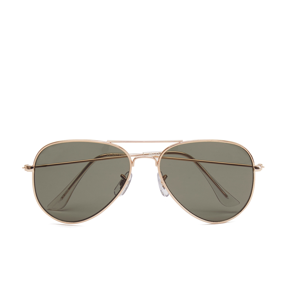golden aviators  Selected Homme Men\u0027s Alberto Aviator Sunglasses - Gold Mens ...