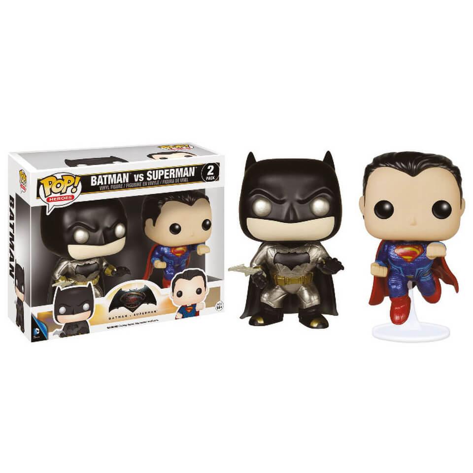 Dc Comics Batman V Superman Metallic Double Pack Pop