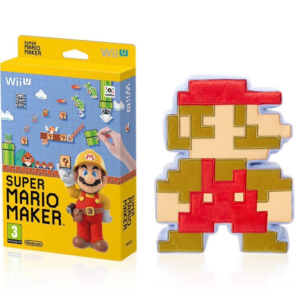Squishy Super Mario Maker 1 : Super Mario Maker + 8-Bit Mario Soft Toy Nintendo UK Store