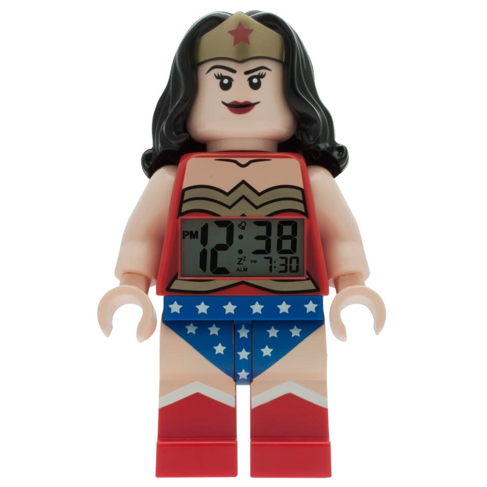 LEGO DC Comics Super Heroes Wonder Woman Mini Figure Clock