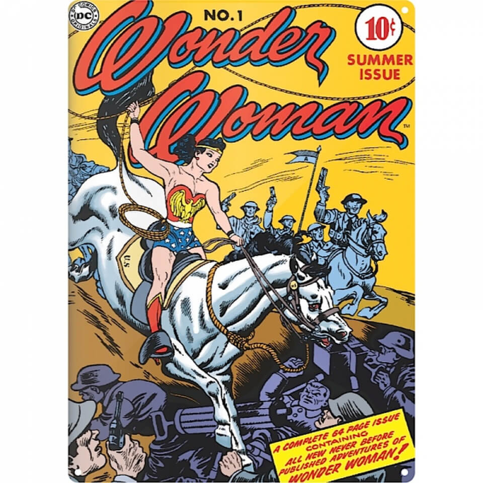 DC Comics Wonder Woman Lasso Large Tin Sign