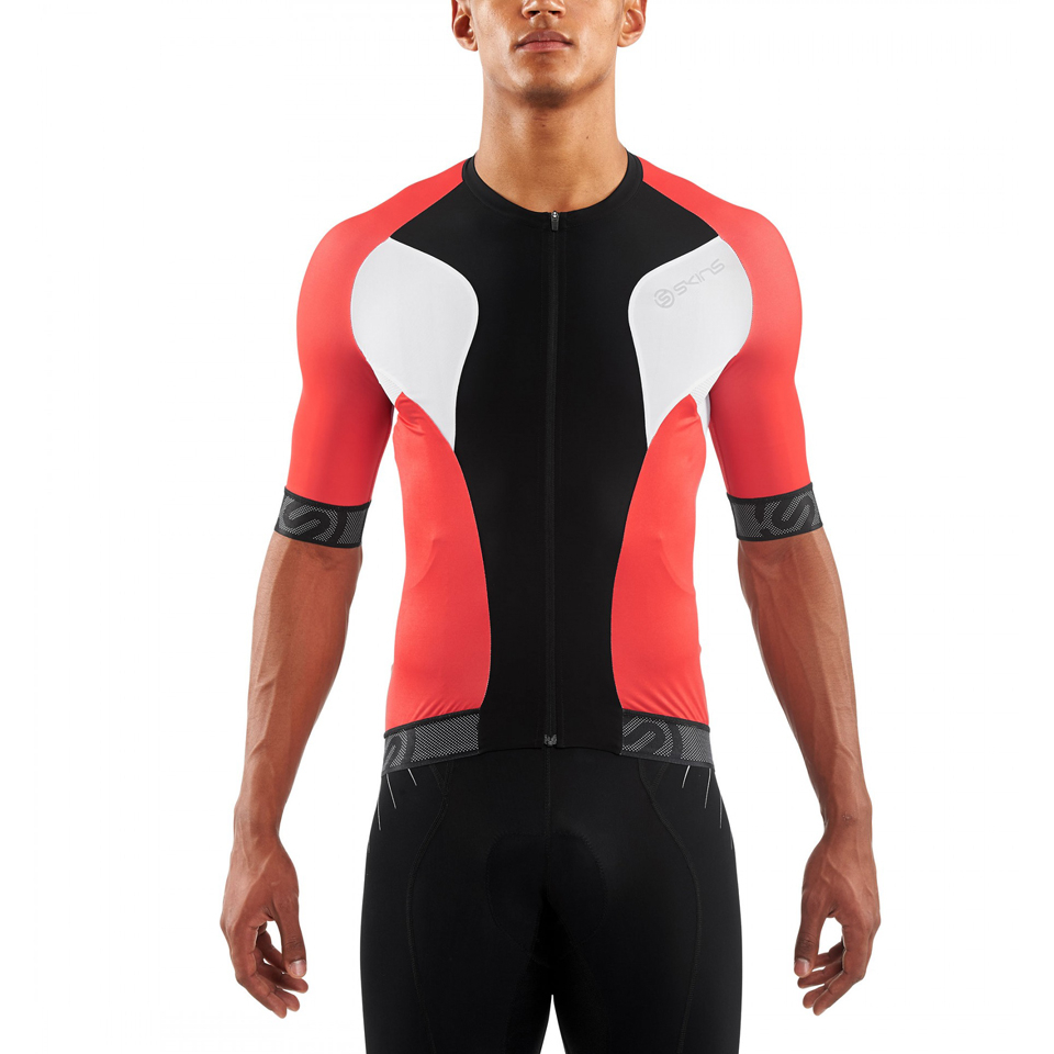 Skins Cycle Men s Tremola Due Short Sleeve Jersey - Black White Red ... 7d8de7615