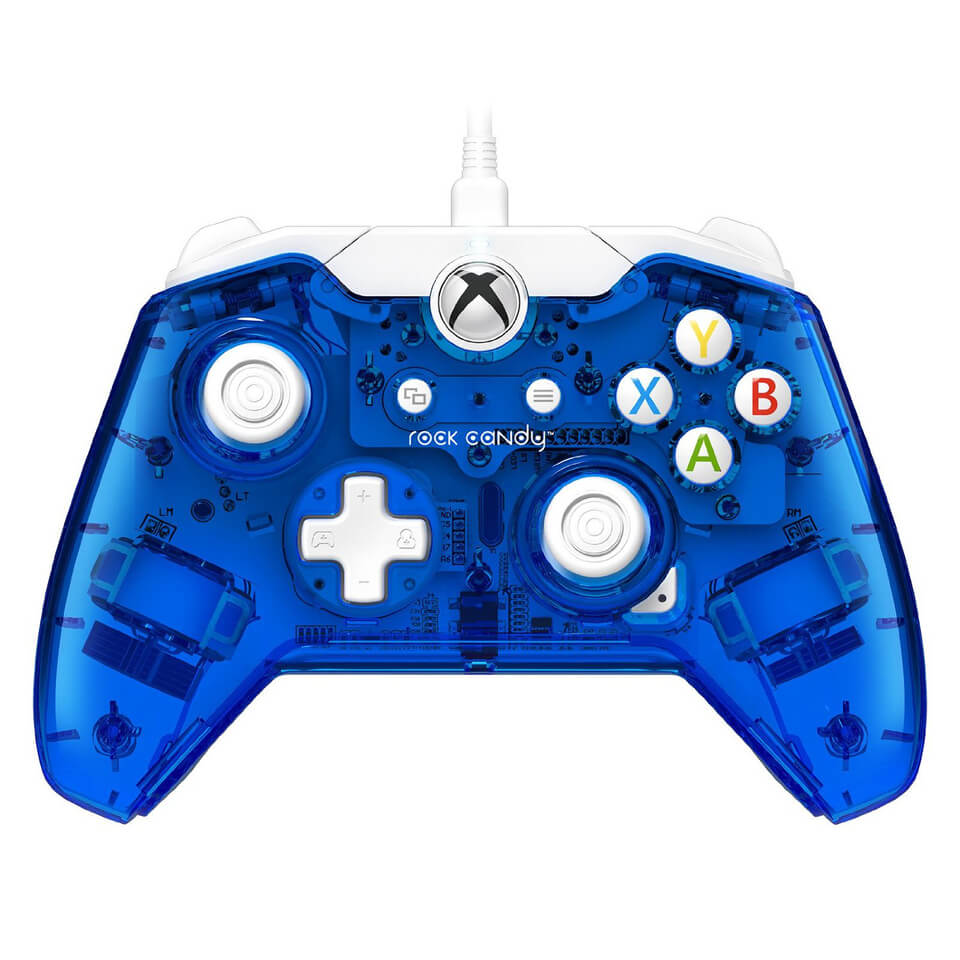 Rock Candy Wired Xbox One Controller - Blue Games Accessories | Zavvi