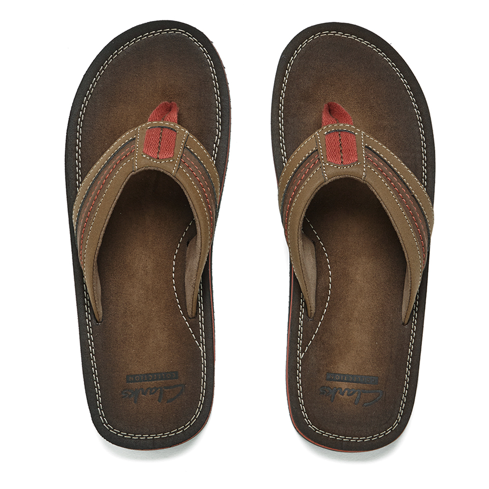 e0b65d0a1958a Clarks Men's Riverway Sun Toe-Post Sandals - Brown Mens Footwear ...