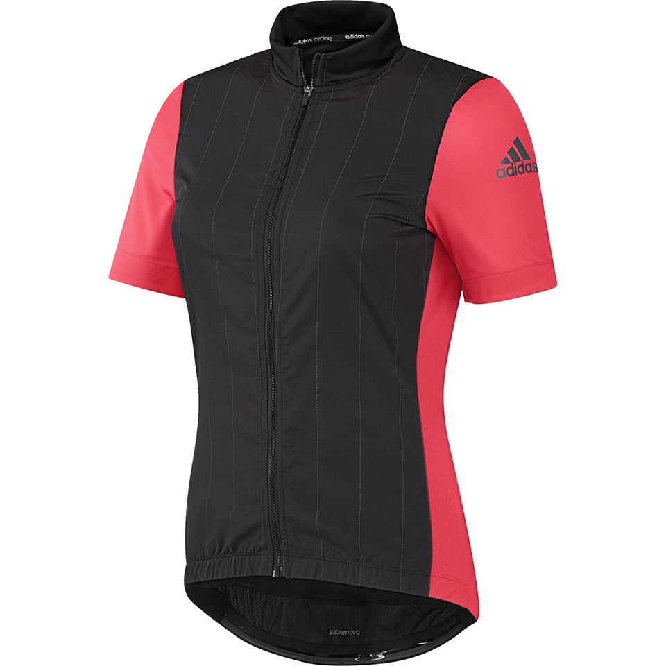 5eaaa0804a023 adidas Women s Supernova Ref Short Sleeve Jersey - Black Shock Red ...