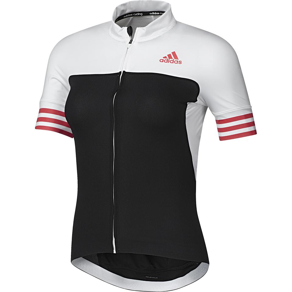 17edd49e5cae adidas Women's Adistar Short Sleeve Jersey - Black/Shock Red